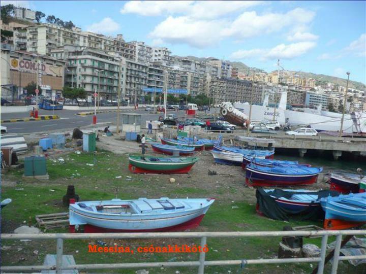 Messina, csónakkikötő
