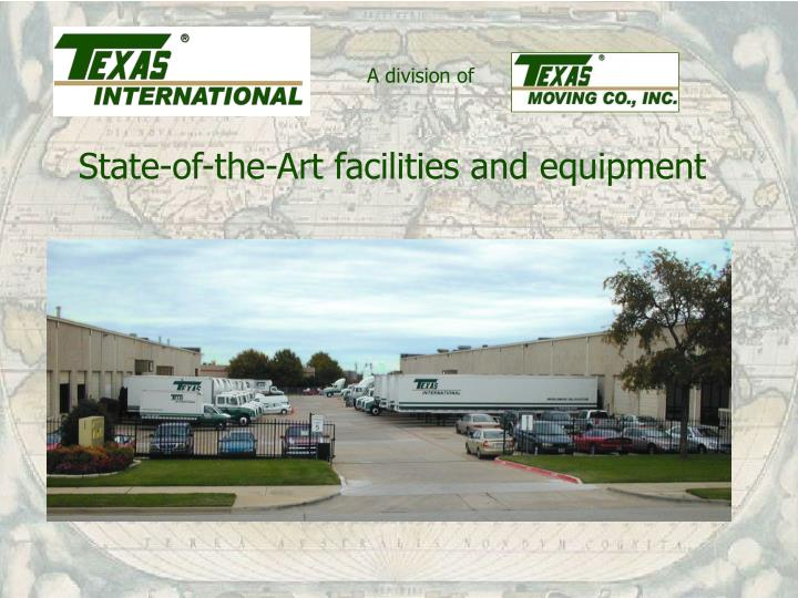 State-of-the-Art facilities and equipment