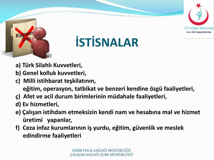 İSTİSNALAR
