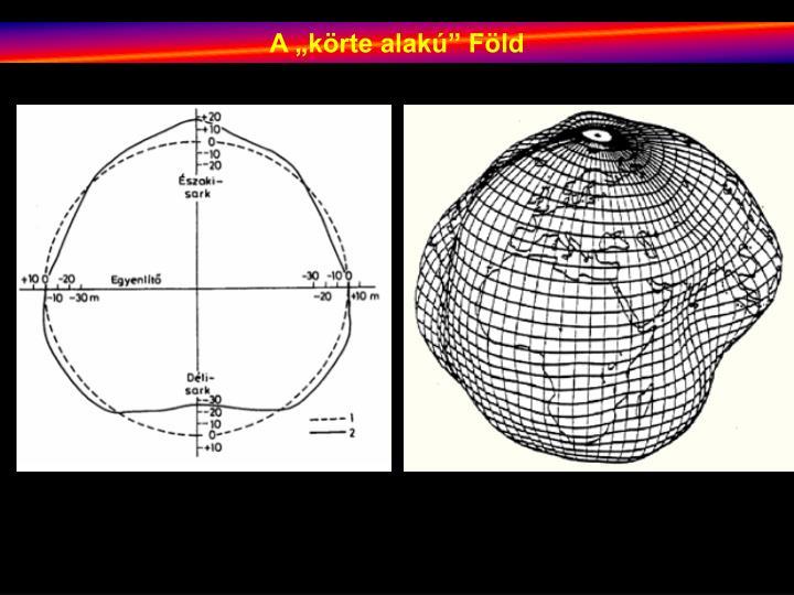 """A """"körte alakú"""" Föld"""