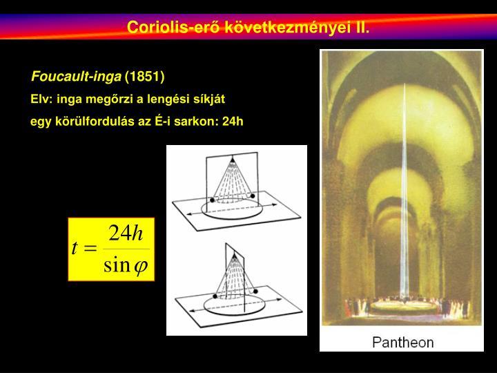 Coriolis-erő következményei II.