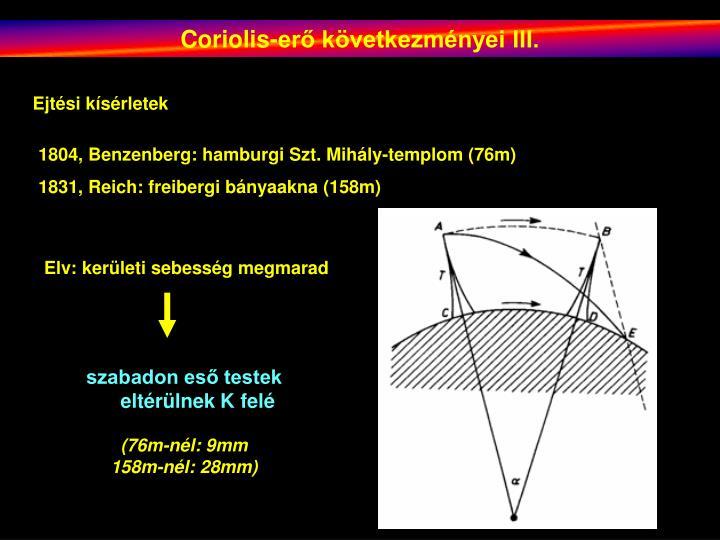 Coriolis-erő következményei III.