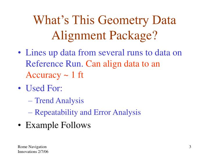 What s this geometry data alignment package