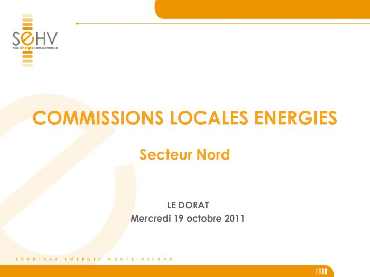 COMMISSIONS LOCALES ENERGIES
