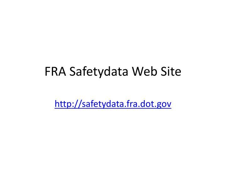 FRA Safetydata Web Site