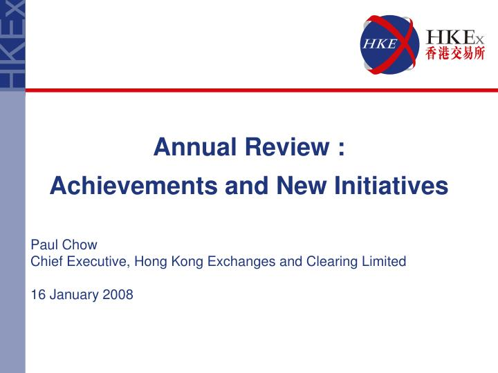 Annual Review :