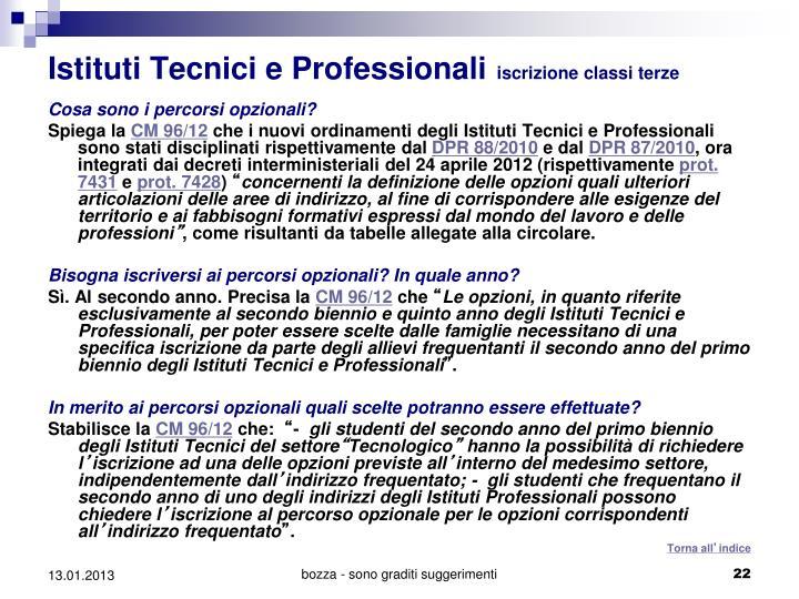 Istituti Tecnici e Professionali