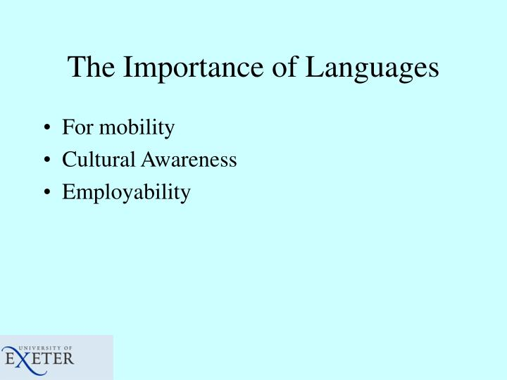 The Importance of Languages
