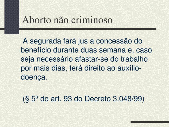 Aborto não criminoso