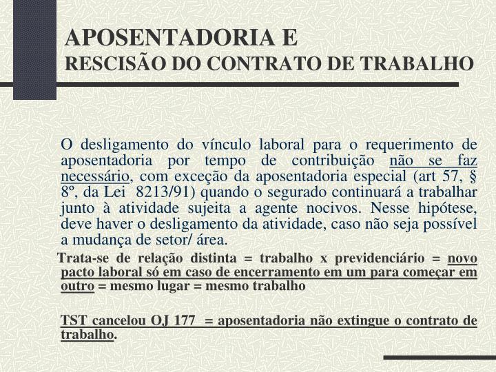 APOSENTADORIA E
