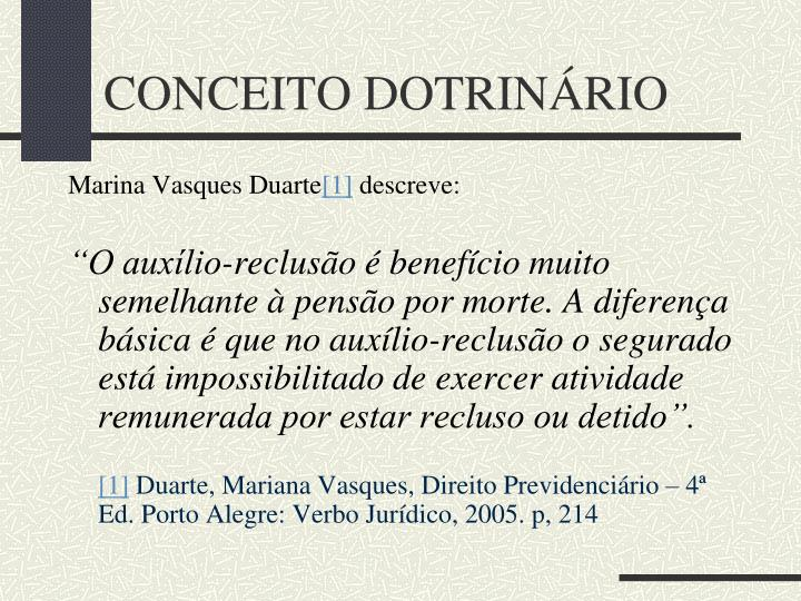 CONCEITO DOTRINÁRIO