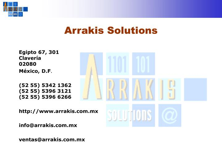 Arrakis Solutions