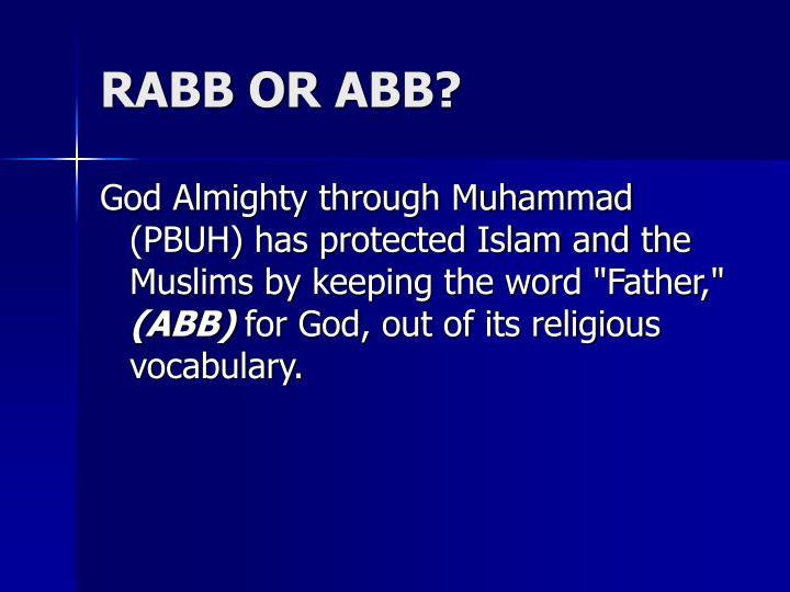 RABB OR ABB?