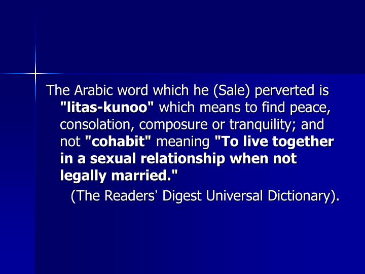 The Arabic word which he (Sale) perverted is