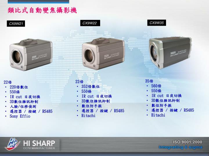 類比式自動變焦攝影機