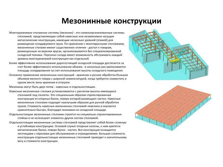Мезонинные конструкции
