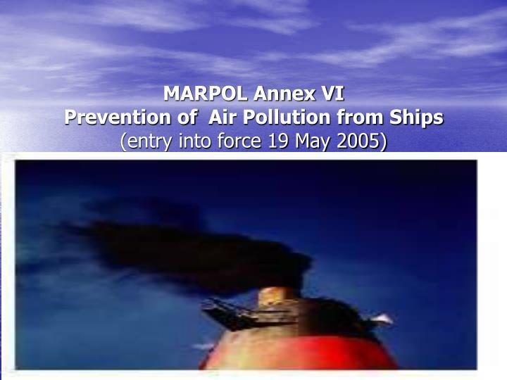 MARPOL Annex VI