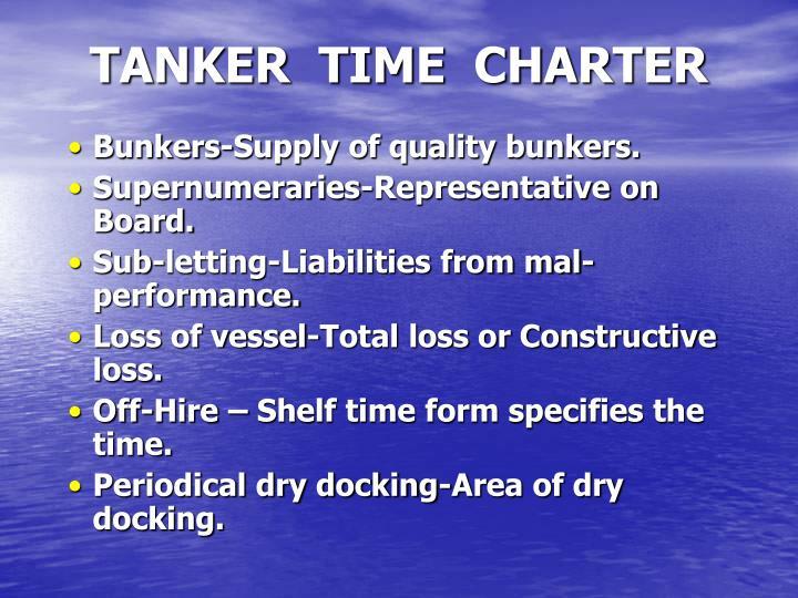 TANKER  TIME  CHARTER