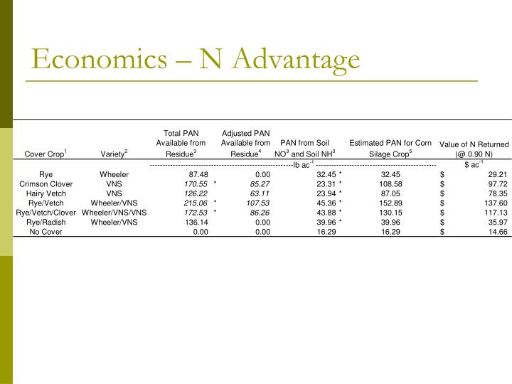 Economics – N Advantage