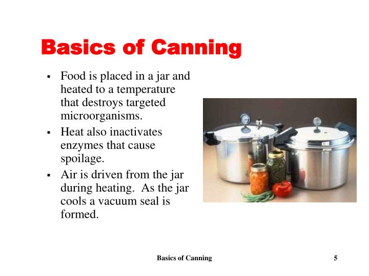 Basics of Canning