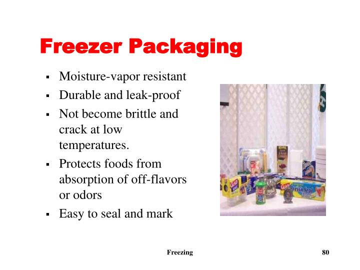 Freezer Packaging