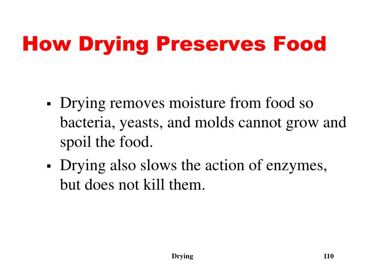 How Drying Preserves Food