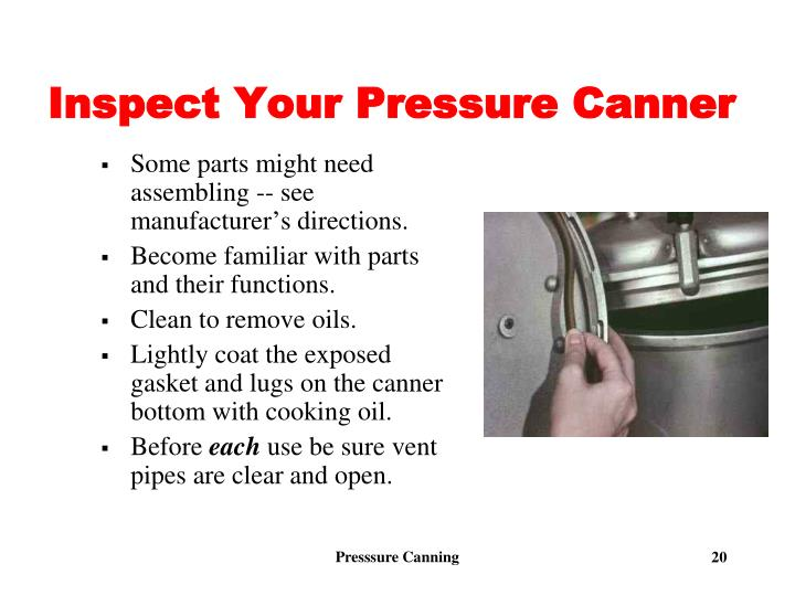 Inspect Your Pressure Canner