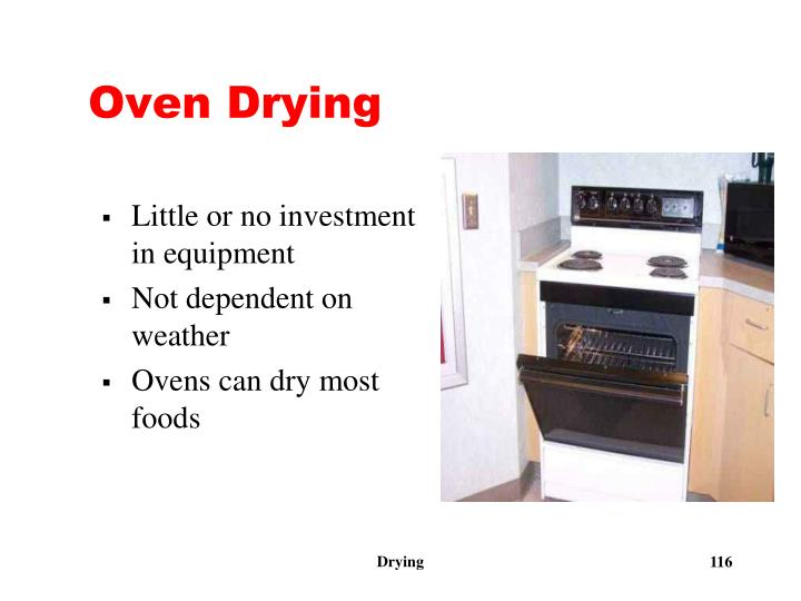 Oven Drying