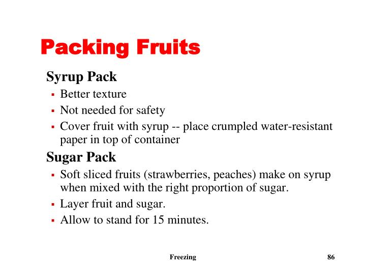 Packing Fruits