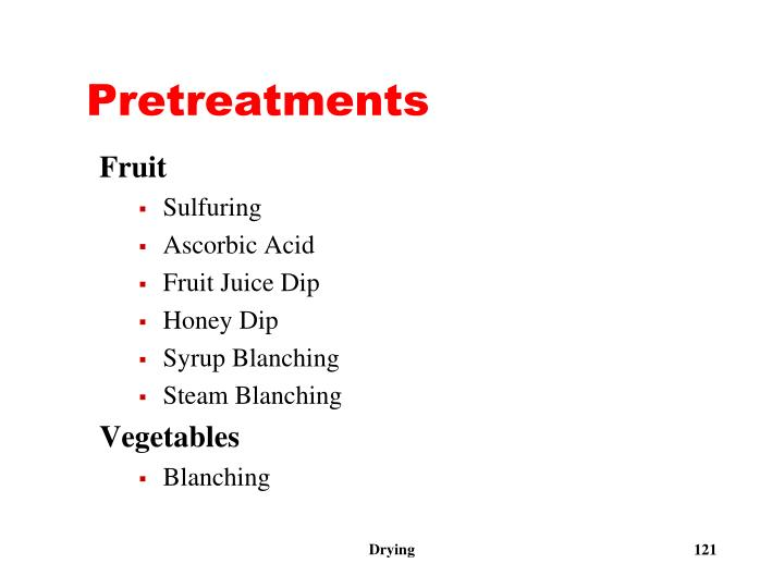 Pretreatments