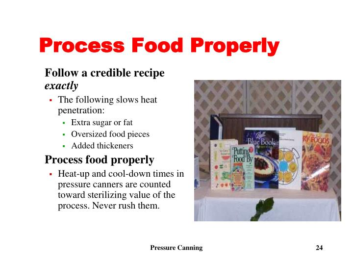 Process Food Properly