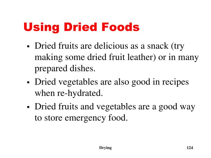 Using Dried Foods