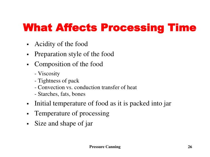 What Affects Processing Time