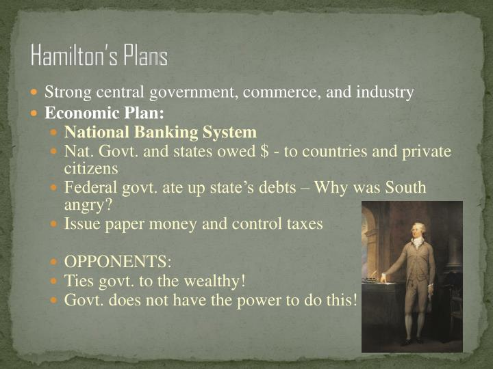 Hamilton's Plans