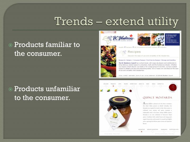 Trends – extend utility