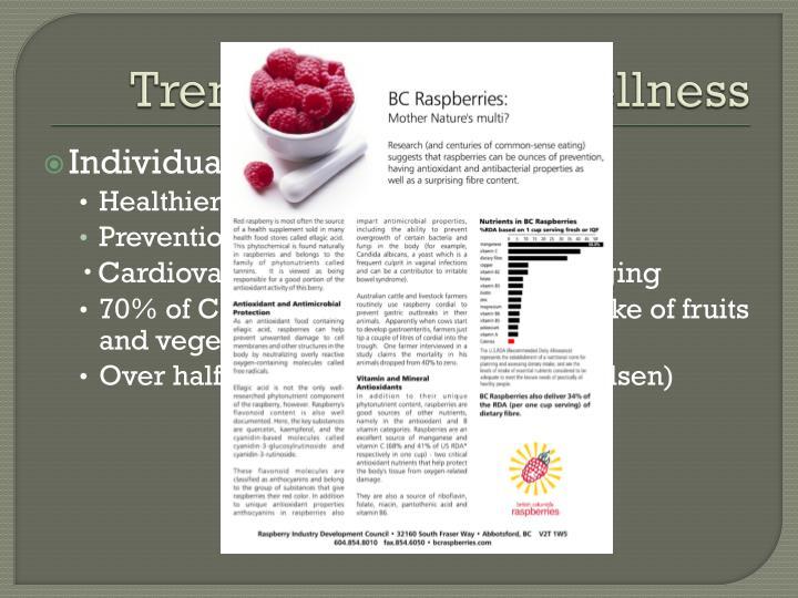 Trends – health & wellness
