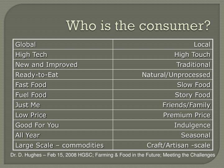 Who is the consumer?