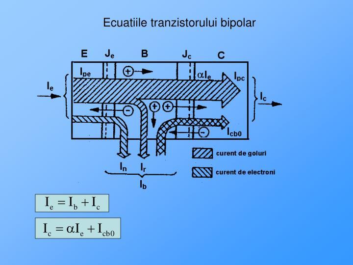 Ecuatiile tranzistorului bipolar