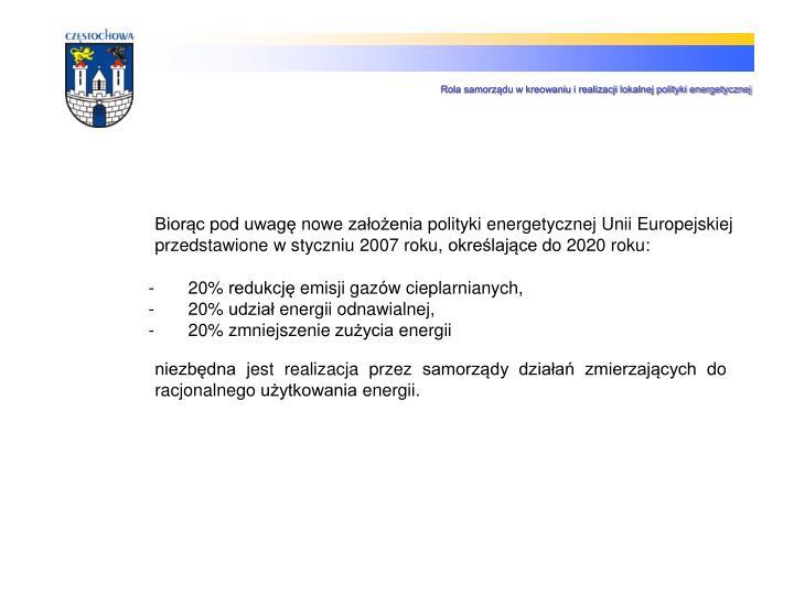 Rola samorządu w kreowaniu i realizacji lokalnej polityki energetycznej
