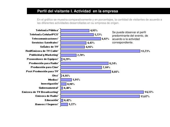 Perfil del visitante I. Actividad  en la empresa