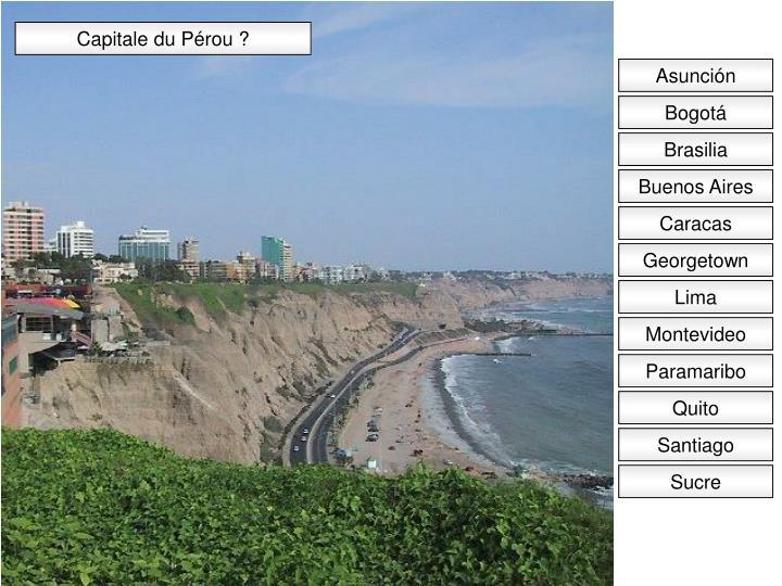 Capitale du Pérou ?