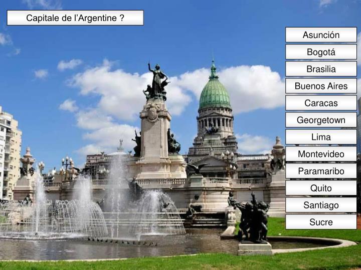 Capitale de l'Argentine ?