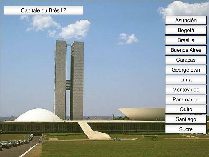 Capitale du Brésil ?