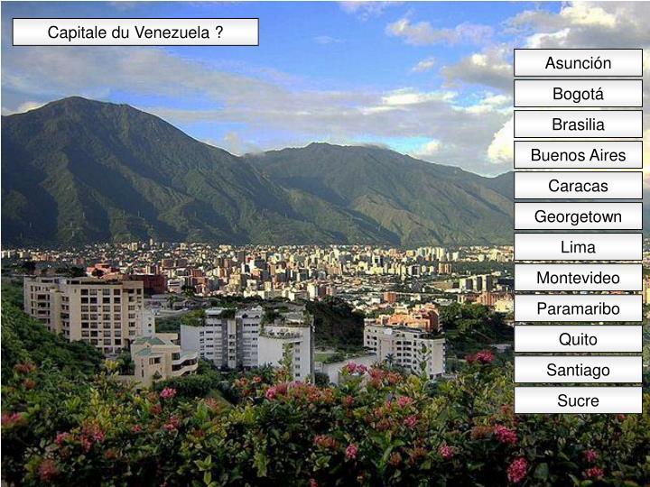 Capitale du Venezuela ?