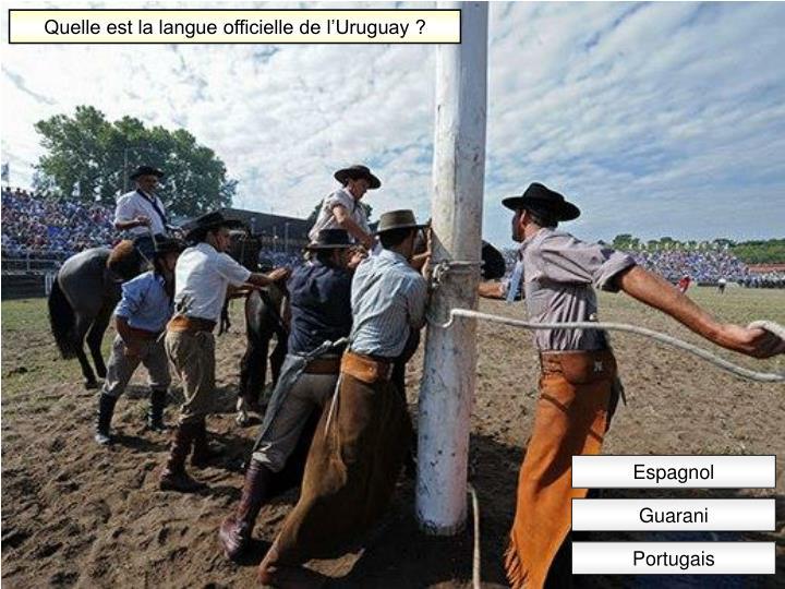 Quelle est la langue officielle de l'Uruguay ?