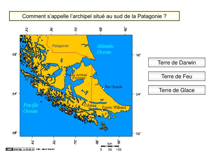 Comment s'appelle l'archipel situé au sud de la Patagonie ?