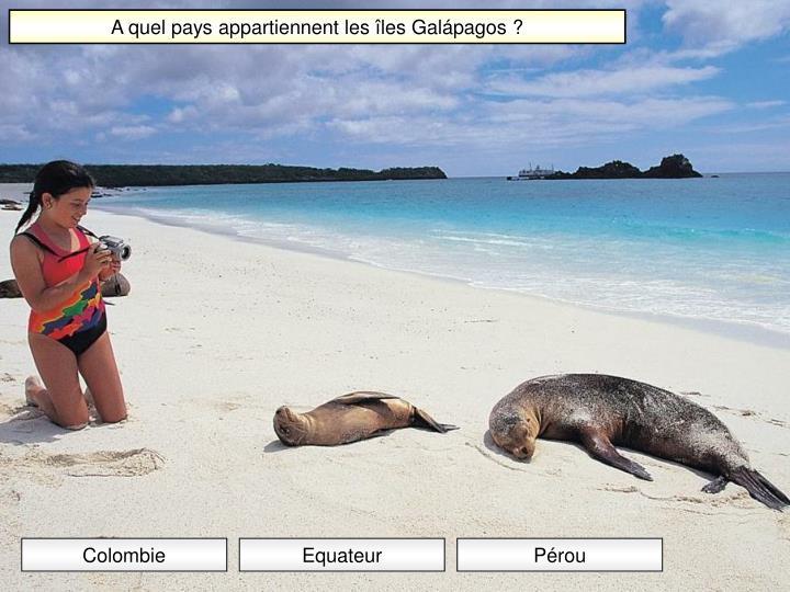 A quel pays appartiennent les îles Galápagos ?