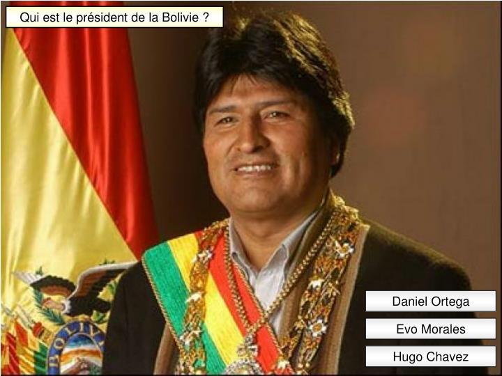 Qui est le président de la Bolivie ?