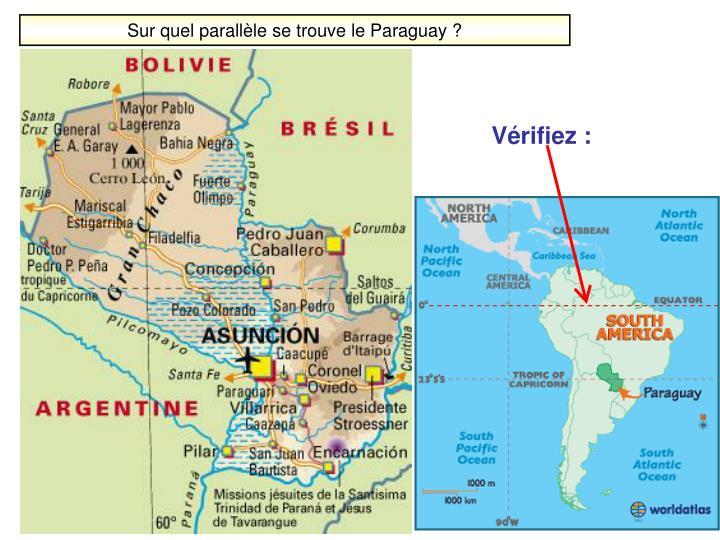 Sur quel parallèle se trouve le Paraguay ?