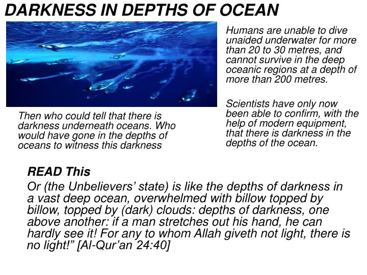 DARKNESS IN DEPTHS OF OCEAN